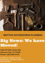 Britton WaterWorks Plumbing, LLC. {RMP#41789} MIssouri City 46