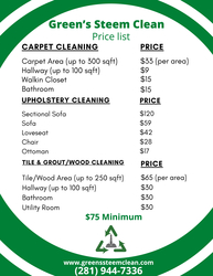 Green's Steem Clean LLC The Woodlands 0